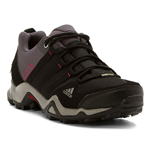 adidas Outdoor Women's Ax2 Gore-Tex Hiking Shoe, Carbon/Black/Bahia Pink, 9 M US by adidas outdoor