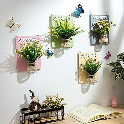 Jinsh Home Tenture Murale Plante Creative Plante Verte Tenture