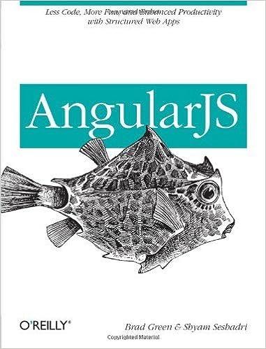 Book AngularJS 1st by Green, Brad, Seshadri, Shyam (2013)