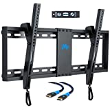 """Mounting Dream MD2268-LK Tilt TV Wall Mount Bracket For Most of 37-70 Inches TVs with VESA 200x100 To 600x400mm and Loading Capacity 132 lbs, Fits 16"""", 18"""", 24"""" Studs"""