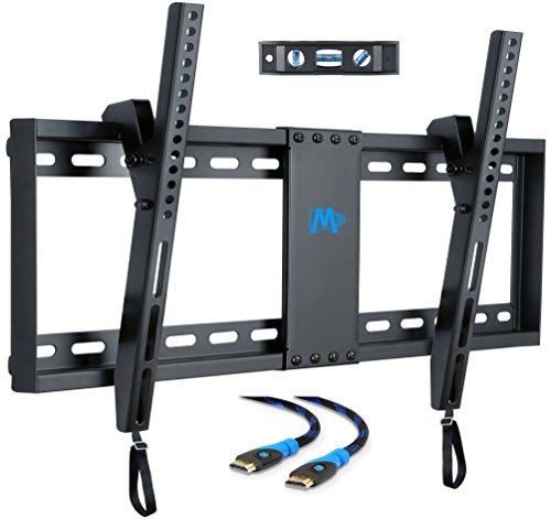 Mounting Dream Tilt TV Wall Mount Bracket for Most 37-70 Inches TVs, TV Mount with VESA up to 600x400mm, Fits 16″, 18″, 24″ Studs and Loading Capacity 132 lbs, Low Profile and Space Saving MD2268-LK