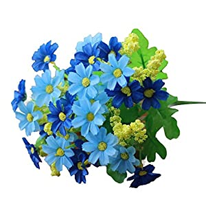 MARJON FlowersArtificial Flowers, 2018 New Artificial Silk Fake Flowers Small Daisy Wedding Bouquet Party Cemetery Home Decoration Perfect for Outdoors Crafts 48