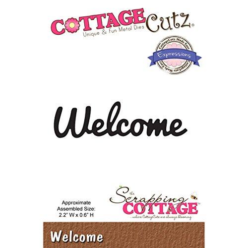 CottageCutz Expressions Die-Welcome, .6''X2.2'' by CottageCutz