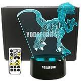 YODAFOOR Dinosaur Night Light Lamp Dinosaur Toy Gifts for Boys Teen Kids Birthday Halloween Christmas Gifts Nurcery Decor Lamp Bedroom Table Decoration (Dinosaur02)