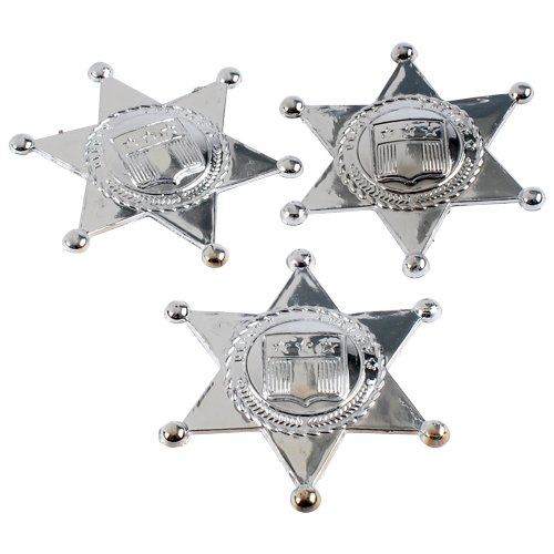DollarItemDirect SILVER SHERIFF BADGES COSTUME ACCESSORY, SOLD BY 33 DOZENS