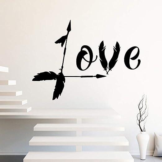 jiuyaomai Vinilo de Pared Flecha de Amor Decoración para el hogar ...