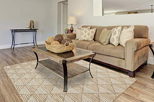 PRIYATE Florida Collection - All Weather Indoor/Outdoor Diamond Trellis Rug for Living Room, Bedroom, and Dining Room (5