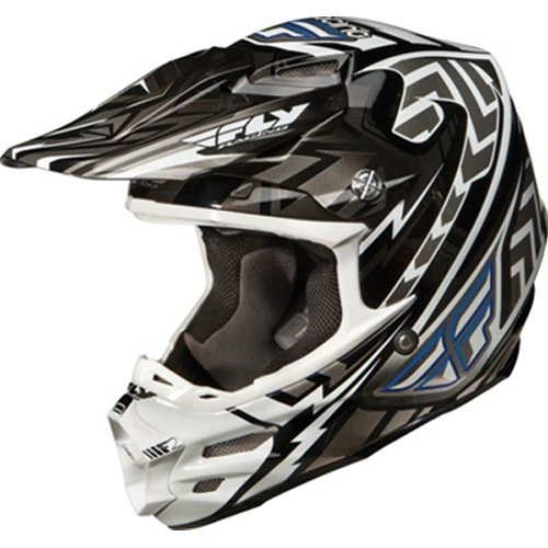 Fly Racing F2 Carbon Andrew Short Replica Adult MX/Off-Road/Dirt Bike Motorcycle Helmet - Grey/White/Black / X-Small