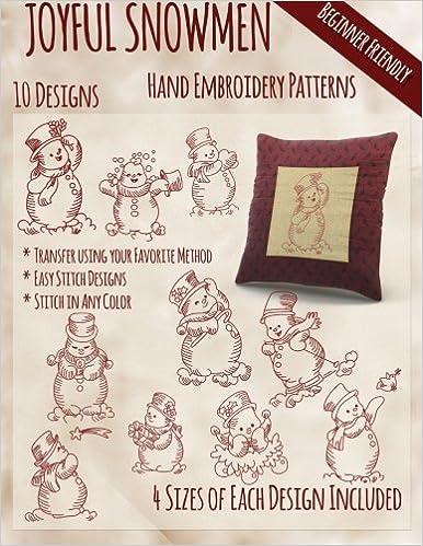 Joyful Snowmen Hand Embroidery Patterns Stitchx Embroidery