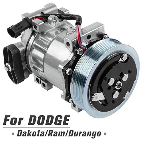 AUTOSAVER88 55056094AB AC Compressor and A/C Clutch for 2002 2003 Dodge Dakota Durango Ram Pickup 1500 2500 3500, 3.9L 5.9L Engine
