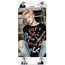 BTS Bangtan Boys Mobile Phone Accessory Suga Jin Jimin Jung Kook Cell Phone Screen Protector for iPhone (Jimin, iPhone 7 Plus/iPhone 8 Plus)