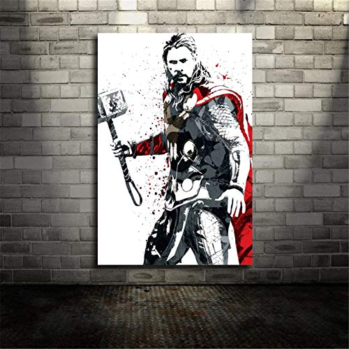 - NATVVA Modern Wall Art Painting Gifts Art Picture Thor Movie Printed Canvas Artist Home Decor Artwork for Living Room Bed Room Wall Decoration No Frame