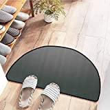SEMZUXCVO Front Door Mat Large Outdoor Indoor Grey Digital Creation of a Leather Texture Abstract Dark Colored Background Classical Print All Season General W31 x L20 Grey White