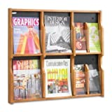Expose Adj Magazine/Pamphlet 6-Pocket Display, 29-3/4 x 2-1/2 x 26-1/4, Med Oak by SAFCO (Catalog Category: Files & Filing Supplies / Card Filing) by Safco