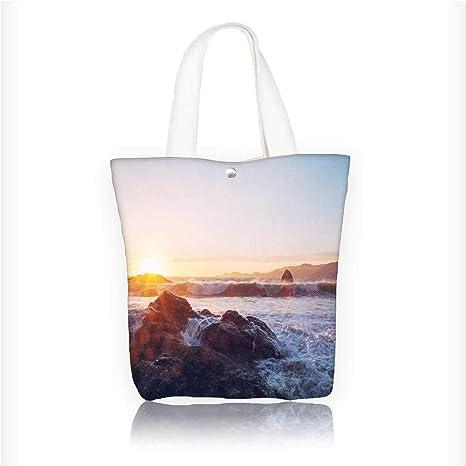Amazon.com: Bolsas de playa de lona con diseño de violetas ...