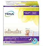 12 Count (1 Package) Tena Incontinence Underwear for Women, Overnight, Extra Large