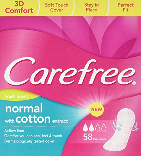 Carefree Pantyliners Cotton Fresh - 58-Piece