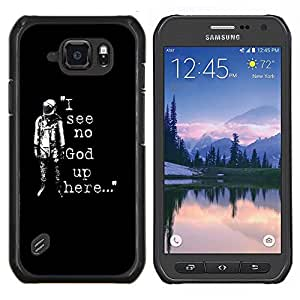 LECELL--Funda protectora / Cubierta / Piel For Samsung Galaxy S6Active Active G890A -- No veo a Dios Astronauta --