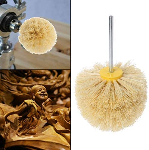 Maslin Deburring Sisal Wire Brush Head Polishing Grinding Buffing Mushroom Wheel Shank For Furniture Wood Sculpture Rotary Drill Tool