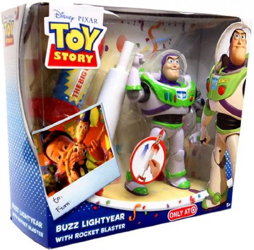 Disney Pixar Toy Story Buzz Lightyear Action Figure with Rocket Blaster (Ship Rocket Toy Story)