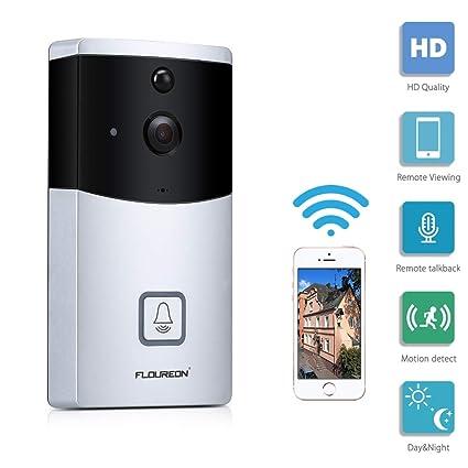 US Smart Wireless WiFi Doorbell HD Video Camera Two-Way Talk Home Security TF