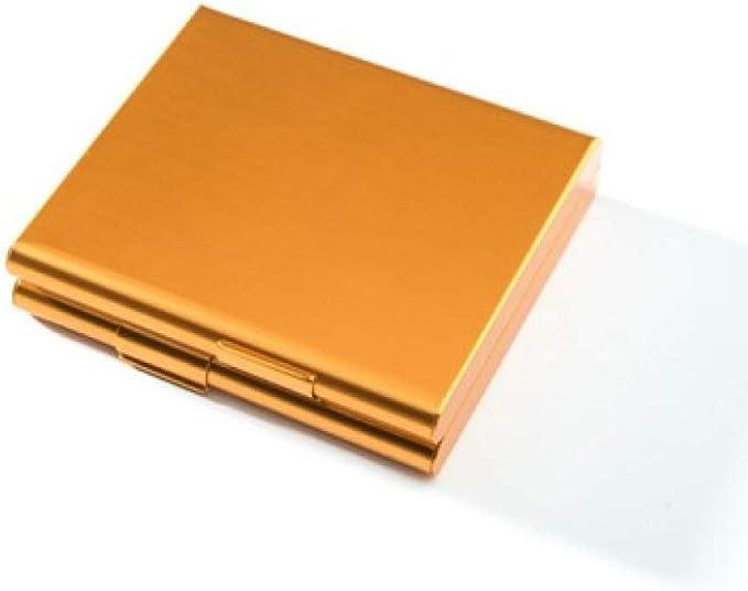 ALHJ Caja De Cigarrillos Aluminio,Portátil Marco De Metal Caja De Tabaco,Alto Grado Ligero Estuche De Cigarrillos-Regalos Creativos para Fumadores-Puede Contener 20 Cigarrillos,C: Amazon.es: Hogar