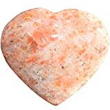 ZenergyGems™ [1] One CHARGED 2'' Himalayan Sunstone Crystal Hand-Carved Pocket Heart Palm Stone GOOD LUCK by ZENERGY GEMS