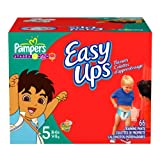 Pampers Easy Ups Trainers for Boys, Size 5, 66 Count