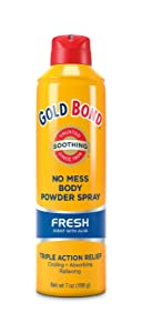 Gold Bond Medicated Body Powder, No Mess Powder Sprays, Fresh 7 oz
