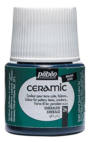PEBEO 025-026 Ceramic, Enamel Effect Paint, 45 ml Bottle - - Lacquer Emerald