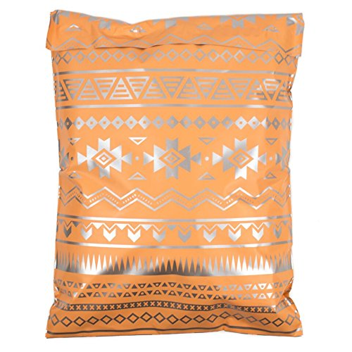 Inspired Mailers Poly Mailers 10x13 Deluxe Southwest Tribal Pattern – Pack of 100 – Unpadded Shipping Bags (Pink/Silver) by Inspired Mailers (Image #7)