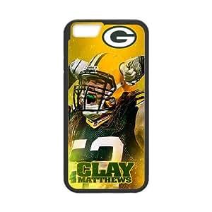 Onshop Green Bay clay matthews Custom Case for iPhone 6 4.7(Laser Technology)