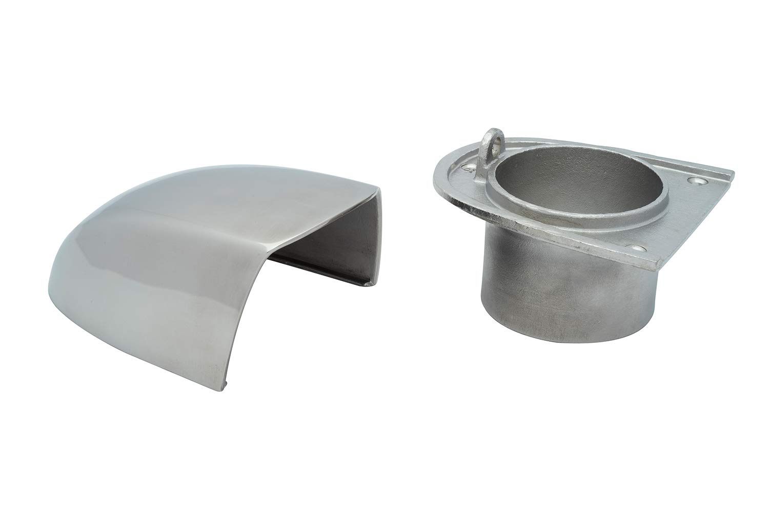 Buchan Marine Clamshell Vent Stainless Steel with 3 Hose Adapter