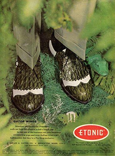 Vintage ETONIC Gator Wings Golf Shoes Magazine Ad