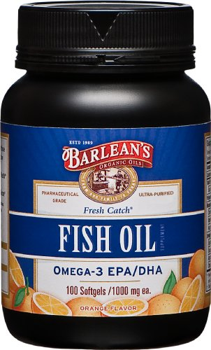 Orange Oil Fish Flavor (Barlean's Fresh Catch Fish Oil, Orange Flavor, 100 Softgels /1000 Milligrams Each (Pack of 2))