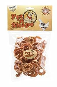 Pet 'n Shape Chik 'n Rings Natural Dog Treats, 8-Ounce