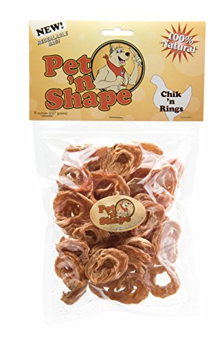 Pet 'n Shape Chik 'n Rings Natural Dog Treats, (Beefeaters Rawhide Chips)