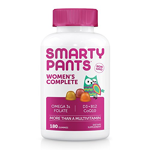 SmartyPants Women's Complete Gummy Vitamins: Multivitamin, CoQ10 & Omega 3 Fish Oil (DHA/EPA Fatty Acids), 180 COUNT, 30 DAY SUPPLY