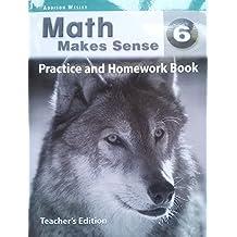 Answer key for Math Makes Sense 6 Practice and Homework Book: Teacher's Edition (Ontario & Atlantic) Paperback – 2007