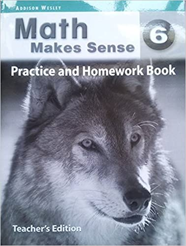 Answer key for Math Makes Sense 6 Practice and Homework Book