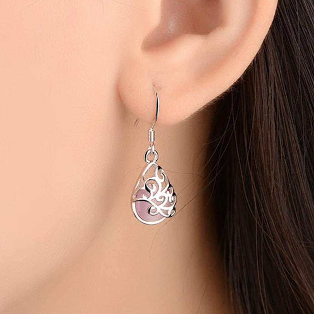 Gijoki New Women Fashion Earrings Jewelry Trendy Drop Water Shape Charm Wedding Gift Drop & Dangle