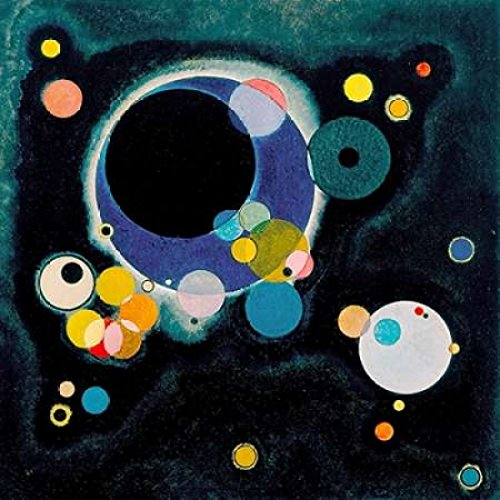 Posterazzi Sketch for Several Circles Poster Print by Wassily Kandinsky (12 x 12) (Several Circles Kandinsky)