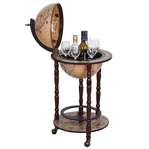 Globe Wine Bar Stand Sixteenth-century Italian Replica As A New Version Global Bar Cabinet, Brown by NEX