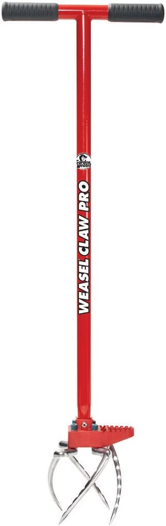 No Bending Great for Heavy Soil Weed Weather and Rust Resistant, Aerate Loosen Garden Weasel 91334 Claw Pro To Cultivate