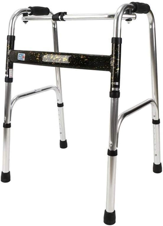 QIYUE Compacta Ancianos Walker Ayuda motriz, multifunción Altura Ajustable Plegable asistida Caminar Auxilios for discapacitados discapacitados, Andadores for los Ancianos