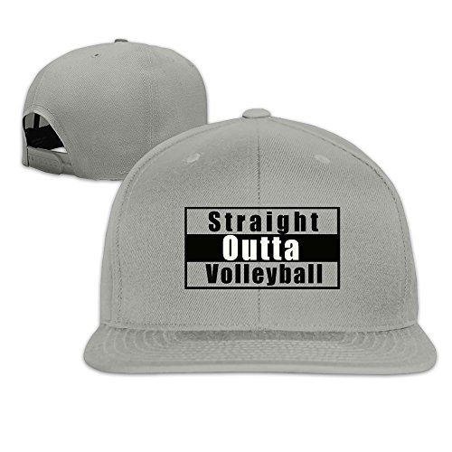 Straight Outta Volleyball Adjustable Cap Flat Bill Baseball Hats]()