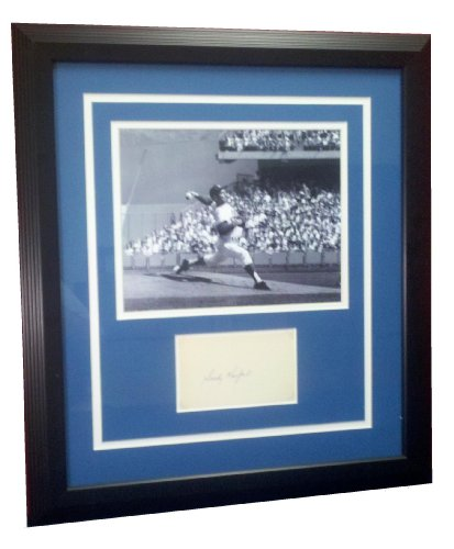 (Brooklyn/Los Angeles Dodgers, Sandy Koufax, Framed, Signed, Cut Signature, with 8x10, Photograph, Ace Certified)