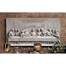 Design Toscano KY11448 The Last Supper Wall Frieze Antique Stone, Off White