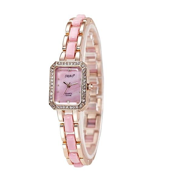amstt de mujer reloj de pulsera Luxus aleación Agua Densidad Analog Quartz Reloj Rose Oro Dial