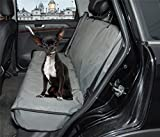 ZQ Waterproof Bench Seat Cover Car Seat Protector for Dogs(Pet Bench Seat Cover, 49 Inch L x 56 Inch W Polyester Grey)